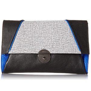 Milly Wythe Mixed Media Crossbody Purse Clutch Bag